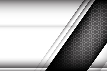 Metallic steel and honeycomb element background texture vector illustration