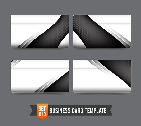 Metal steel technology concept and honneycomb element - business card template vector illustration