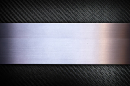 Carbon fiber and Stainless steel metal texture background 스톡 콘텐츠