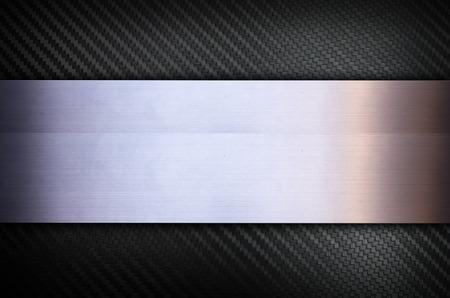 Carbon fiber and Stainless steel metal texture background Foto de archivo
