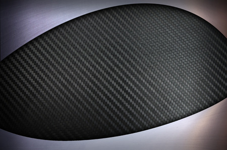 Carbon fiber and Stainless steel metal texture background Stock Photo