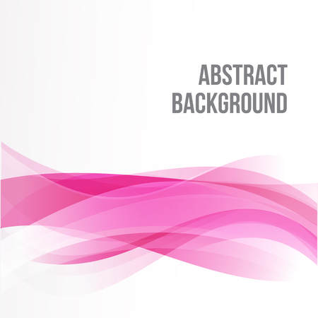 Abstract background Ligth pink curve and wave element vector illustration Vectores