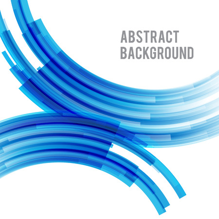 Abstract background bright and light curve blue vector illustration
