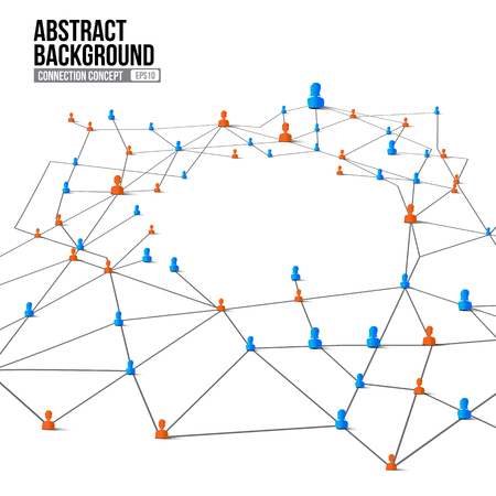 network concept: Connection concept abstract background grey line and dot element network social vector illustration