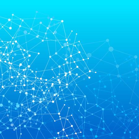 Abstracte achtergrond netwerk connect concept - vector illustratie