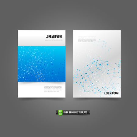 Flyer Brochure background templated network connection concept vector illustration