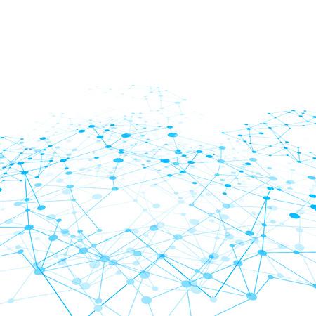 Achtergrond netwerk connect concept - vector illustratie Stock Illustratie