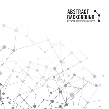 Abstracte achtergrond netwerk connect begrip vector illustratie