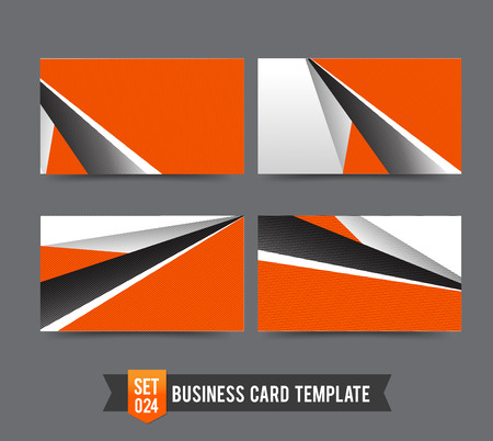 Business Card Template gesetzt Orange abstract backgroundvector illustration