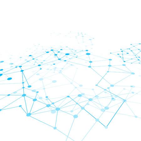 Achtergrond netwerk connect begrip vector illustratie Stock Illustratie