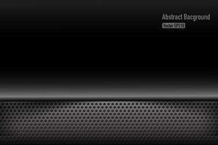 aluminum background: Chrome black and grey background texture vector illustration eps10 Illustration