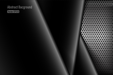 grey background texture: Chrome black and grey background texture vector illustration eps10 Illustration