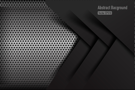 chrome metal: Chrome black and grey background texture vector illustration eps10 Illustration