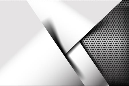 Chrome black and grey background texture vector illustration eps10 Illustration