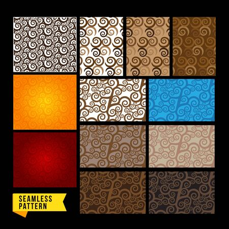 vintage element: Abstract seamless pattern curve swirl vintage element Illustration