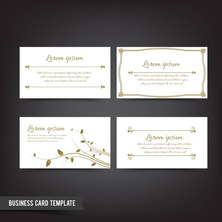 Clear and minimal design business card template