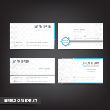 clear: Clear and minimal design business card template