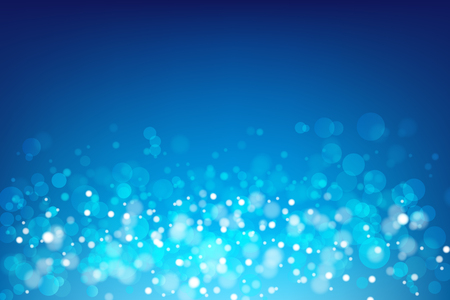 blue bubbles: Abstract blue background with light bokeh