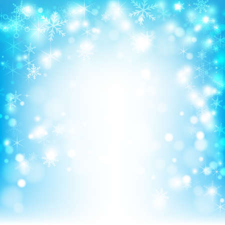 snow fall: Abstract background snow fall and lighting Illustration