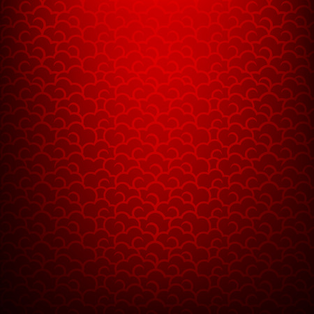 Abstract dark and red background for happy chinese new year oriental and traditional  wave cloud symbole element illustration