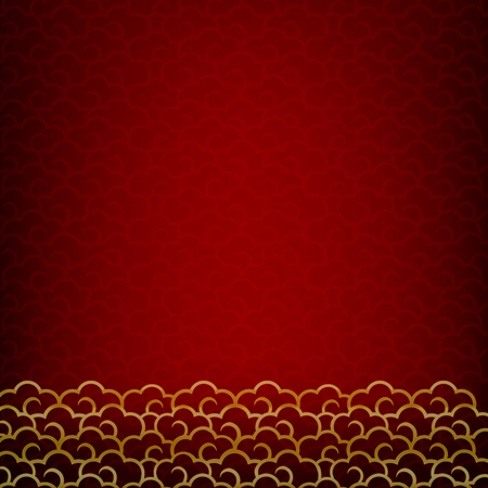 Abstract dark and red background for happy chinese new year oriental and traditional  wave cloud symbole element illustration Фото со стока - 50601532