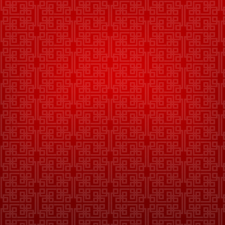asian culture: Abstract chinese red background illustration