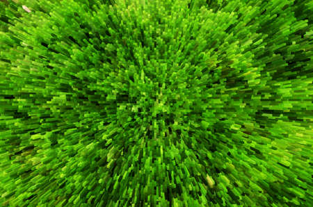 extrude: Green grass background with 3D extrude effect Stock Photo