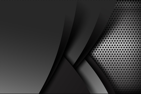 dark chrome: Dark chrome black and grey layer element background texture vector illustration eps10