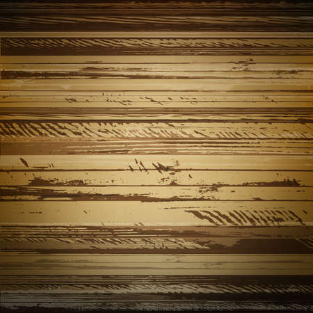 wooden board: Traced brown wood grain abstract baclkground vector illustration Illustration