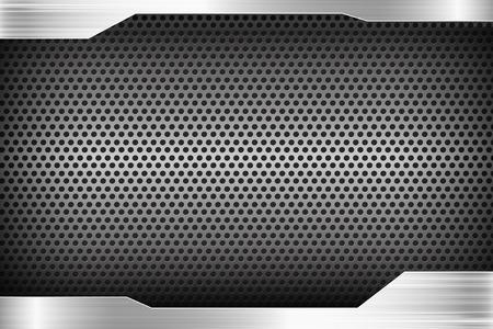 Textura pulida de acero en espera de metal resumen de antecedentes ilustración vectorial