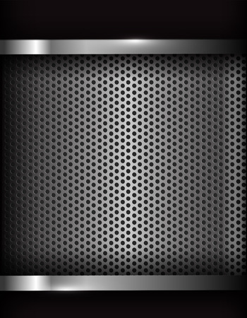 dark chrome: Dark chrome steel abstract background vector illustration Illustration