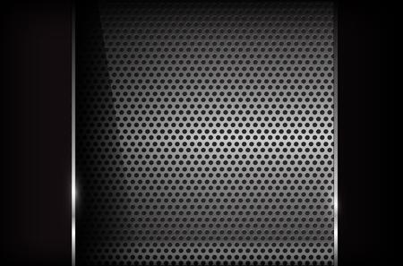 chrome: Dark chrome steel abstract background vector illustration Illustration