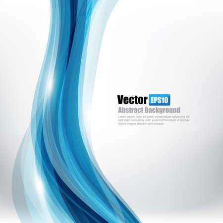 curve: Abstract background Ligth blue curve and wave element vector illustration