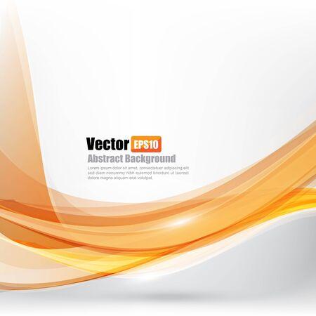 orange background abstract: Abstract background Ligth orange curve and wave element vector illustration Illustration