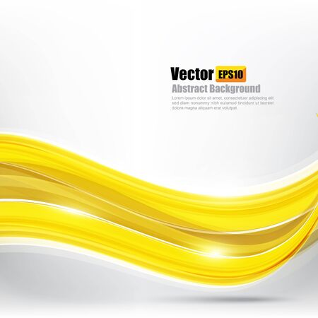 curve: Abstract background Ligth gold curve and wave element vector illustration