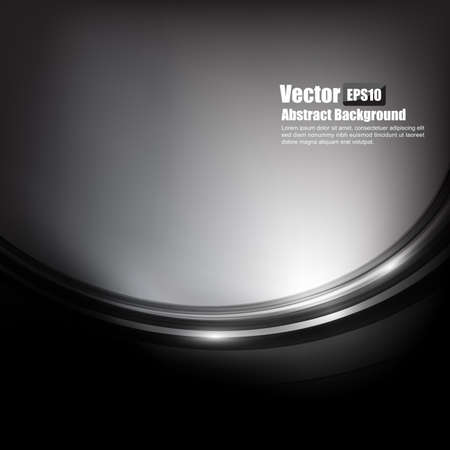 Abstract background black and dark grey curve and wave element vector illustration