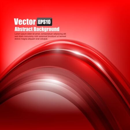 Abstract background Ligth red curve and wave element vector illustration Illustration