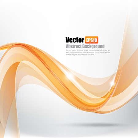 Abstract background Ligth orange curve and wave element vector illustration Illustration