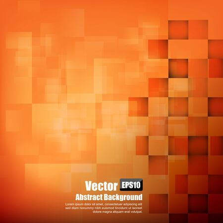 Abstract background orange with basic geometry element vector illustration eps10