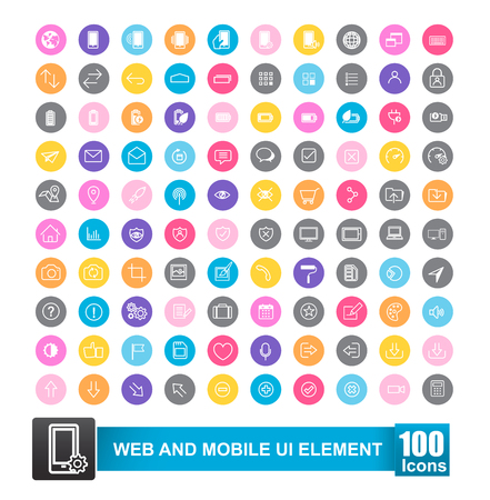 Simple line icons for web design and mobile ui vector illustration eps 10