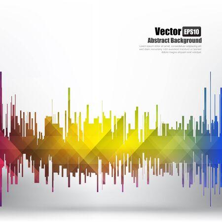 Abstract background Ligth equalizer bar and wave element vector illustration eps10