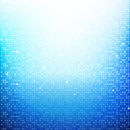 Blue Brick pixel mosaic abstract background vector illustration eps10 Illustration