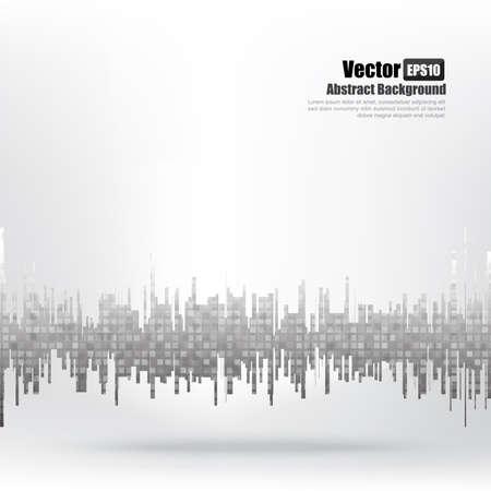 Abstract background Ligth grey equalizer bar and wave element vector illustration eps10