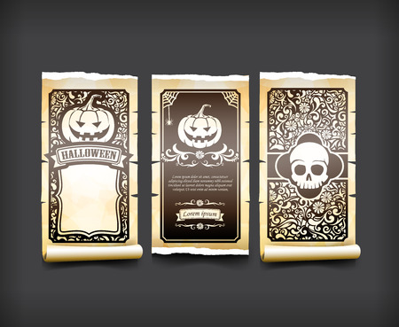 Halloween card classic and vintage style design element vector illustration eps10