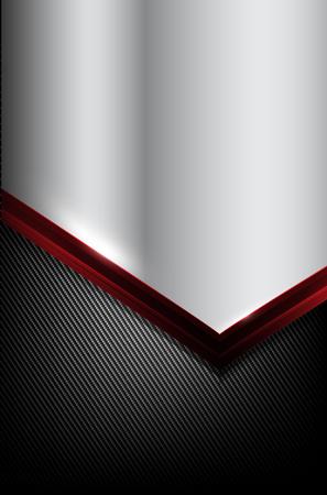 dark fiber: Dark carbon fiber and red overlap element abstract background vector illustration eps10