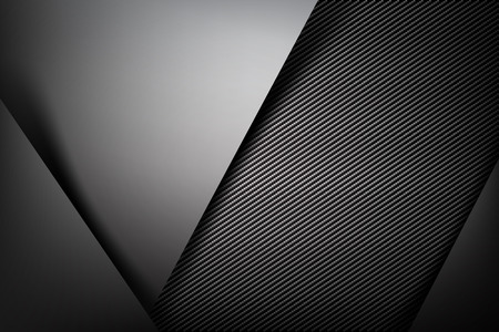 Abstract background dark and black carbon fiber vector illustration eps10 Vettoriali