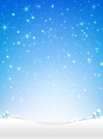 snow fall: Star night and snow fall bakcground  illustration eps10