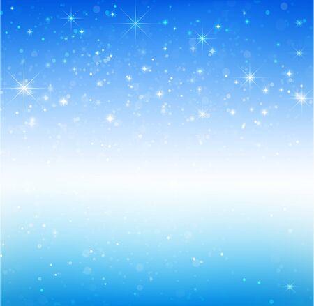 snow fall: Star night and snow fall bakcground  illustration  eps10 Illustration