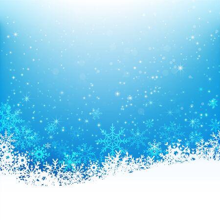 snow fall: Christmas snowflake with night star light and snow fall abstract bakcground  illustration eps10 002 Illustration