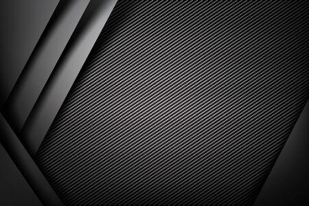 Abstract background dark and black carbon fiber  illustration eps10